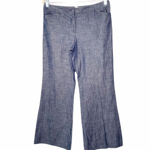 J.Crew Wide Flares Leg Dress Jeans Button Fly 6